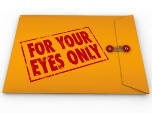 For Your Eyes Only Sensistive Information Material Envelope