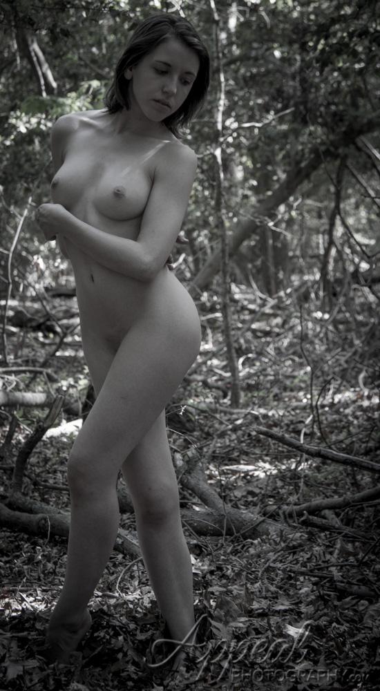 Asian masturbating nude woman