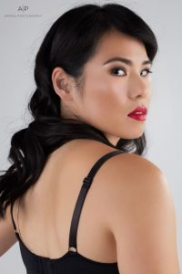 We love this over-the-shoulder look of Bleuwolfe, a member of our Aspiring Models Program. Her expression is effortless and captures her true intensity and beauty.