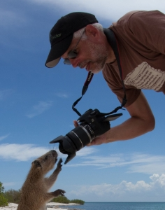 David Photographs a Curious (and Fuzzy) Friend